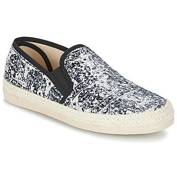 Schuhe Damen Leinen-Pantoletten mit gefloch Spiral VIRGINIA Weiß