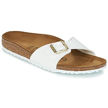 Schuhe Damen Pantoffel Birkenstock MADRID Weiss / Gold