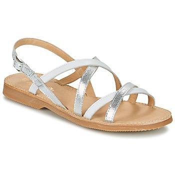 Schuhe Mädchen Sandalen / Sandaletten Citrouille et Compagnie GENTOU Weiß / Silbrig