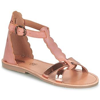 Schuhe Mädchen Sandalen / Sandaletten Citrouille et Compagnie GUBUDU Golden