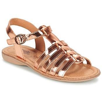 Schuhe Mädchen Sandalen / Sandaletten Citrouille et Compagnie GROUFLA Bronze