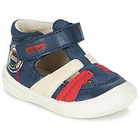 Schuhe Jungen Sandalen / Sandaletten Kickers ZOHAN Marineblau / Rot
