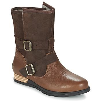 Chaussures Femme Boots Sorel SOREL MAJOR MOTO Tabac