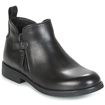 Schuhe Mädchen Boots Geox J AGATA C Schwarz