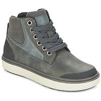 Chaussures Garçon Baskets montantes Geox J MATT.B ABX C Gris