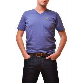 Vêtements Homme T-shirts manches courtes Lyle & Scott T-shirt Lyle and Scott bleu Vintage pour homme Bleu
