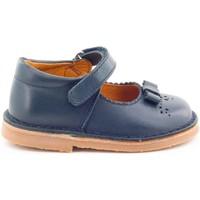 Chaussures Fille Ballerines / babies Boni & Sidonie Babies en cuir à scratch - ALIZEE Bleu Marine