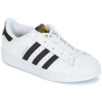 Schuhe Kinder Sneaker Low adidas Originals SUPERSTAR Weiss / Schwarz