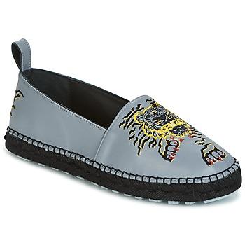 Schuhe Damen Leinen-Pantoletten mit gefloch Kenzo KUMI Grau