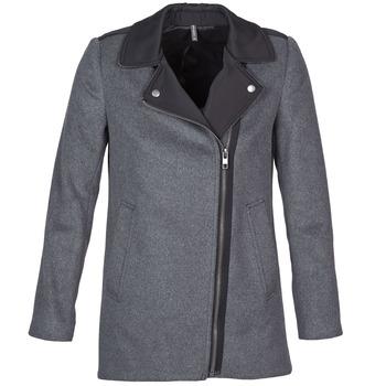 Abbigliamento Donna Cappotti Naf Naf ARNO Grigio / Nero