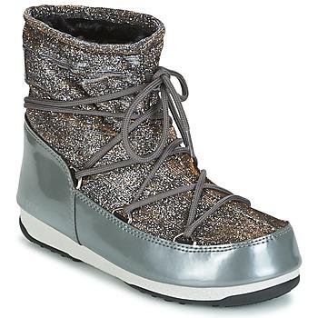 Scarpe Donna Stivali da neve Moon Boot MOON BOOT LOW LUREX Grigio / Argento