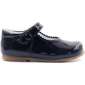 Chaussures Fille Ballerines / babies Boni & Sidonie Babies en cuir vernis à scratch - PRINCESSE II Vernis Bleu