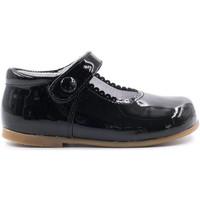 Chaussures Fille Ballerines / babies Boni & Sidonie Babies en cuir vernis à scratch - PRINCESSE II Vernis Noir