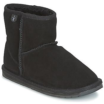Chaussures Enfant Boots EMU WALLABY MINI Noir