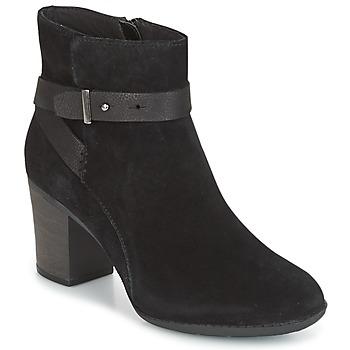 Chaussures Femme Derbies Clarks ENFIELD SARI Black suede