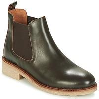 Schuhe Damen Boots Bensimon BOOTS CREPE Braun,