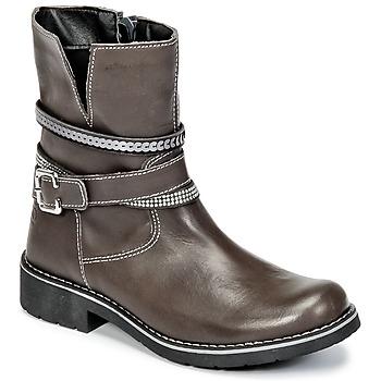 Chaussures Fille Boots Citrouille et Compagnie HASU Gris