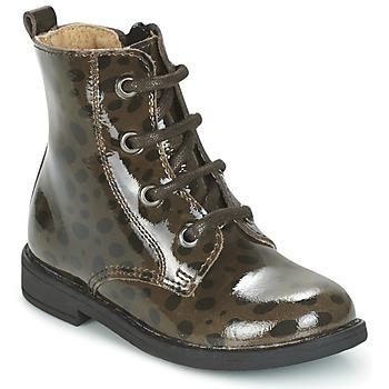 Chaussures Fille Boots Citrouille et Compagnie HEMANU Noir / Marron