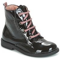 Schuhe Mädchen Boots Citrouille et Compagnie HEMANU Schwarz / Rose
