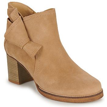 Chaussures Femme Bottines Casual Attitude HIRCHE Beige