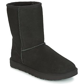 Chaussures Femme Boots UGG CLASSIC SHORT II Noir