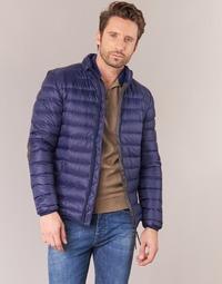 Kleidung Herren Daunenjacken Vicomte A. DOUDOUNE HOMME MANCHES LONGUES NAVY Marineblau