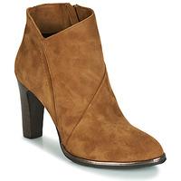 Schuhe Damen Low Boots Myma PELOUR Cognac