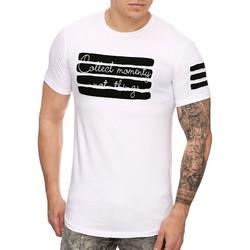 Vêtements Homme T-shirts manches courtes Cabin T shirt homme asymétrique T shirt 935 blanc Blanc