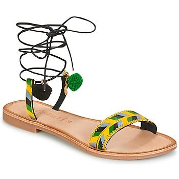 Chaussures Femme Sandales et Nu-pieds Lola Espeleta EDWINA Vert / Jaune / Noir