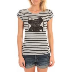 Vêtements Femme T-shirts manches courtes LuluCastagnette T-Shirt Liss Rayure Gris Gris