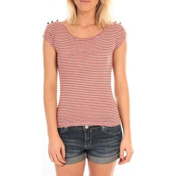 Vêtements Femme T-shirts manches courtes LuluCastagnette T-Shirt Jeny Rayé Rouge Rouge