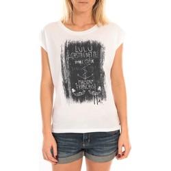 Vêtements Femme Tops / Blouses LuluCastagnette Top Luna Print Blanc Blanc