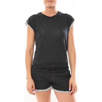 Vêtements Femme Tops / Blouses LuluCastagnette Top Manches Courtes Lune Marine Bleu