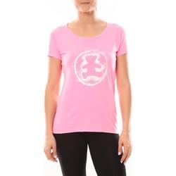 Vêtements Femme T-shirts manches courtes LuluCastagnette T-shirt Happy Rose Rose