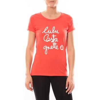 Vêtements Femme T-shirts manches courtes LuluCastagnette T-shirt Muse Rouge Rouge
