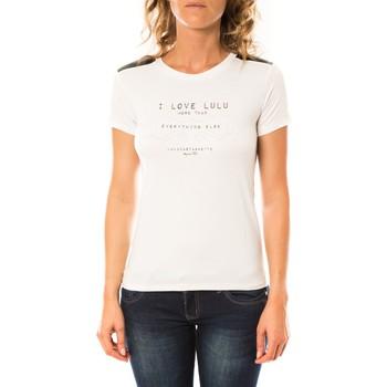 Vêtements Femme T-shirts manches courtes LuluCastagnette T-shirt Funk Blanc Blanc