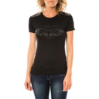 Vêtements Femme T-shirts manches courtes LuluCastagnette T-shirt Funk Noir Noir