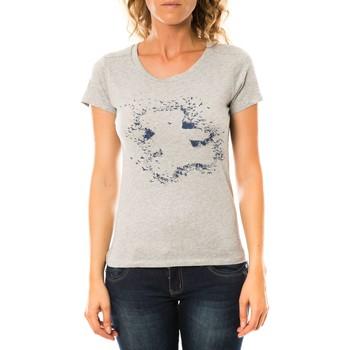 Vêtements Femme T-shirts manches courtes LuluCastagnette T-shirt Troupe Gris Gris