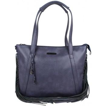 Sacs Femme Cabas / Sacs shopping LuluCastagnette Sac cabas plat bandoulière  avec franges Gaud bleu