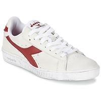 Schuhe Sneaker Low Diadora GAME L LOW WAXED Weiß / Rot