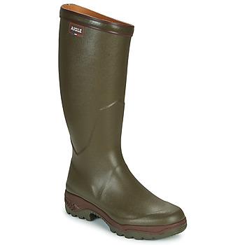Chaussures Homme Bottes de pluie Aigle PARCOURS 3 Kaki