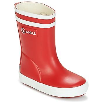 Chaussures Enfant Bottes de pluie Aigle BABY FLAC Rouge / Blanc