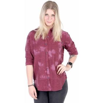 Vêtements Femme Chemises / Chemisiers Obey RYE BUTTON-DOWN Rouge / Carreaux