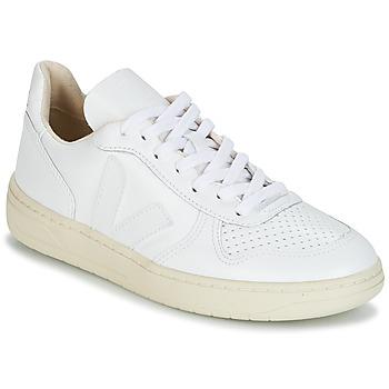 Schuhe Sneaker Low Veja V-10 Weiß