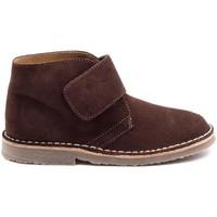 Chaussures Garçon Boots Boni & Sidonie Bottines en daim à lacets - MARIUS II Marron