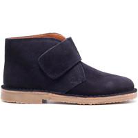 Chaussures Garçon Boots Boni & Sidonie Bottines en daim à lacets - MARIUS II Bleu Marine