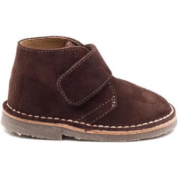 Chaussures Garçon Boots Boni & Sidonie Bottines en daim à scratch - MINI MARIUS Marron
