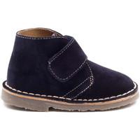 Chaussures Garçon Boots Boni & Sidonie Bottines en daim à scratch - MINI MARIUS Bleu Marine