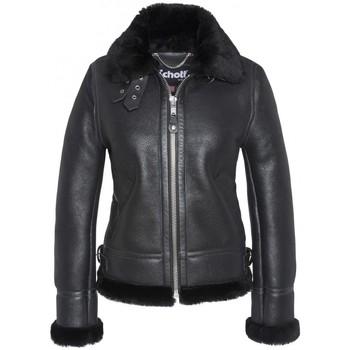 Vêtements Femme Vestes en cuir / synthétiques Schott BOMBARDIER FEMME  Noir LCW 1257 Noir