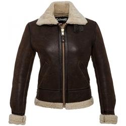 Vêtements Femme Vestes en cuir / synthétiques Schott BOMBARDIER LCW 1257 FEMME  DARK BROWN Marron
